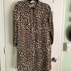 NWT Chico's A Line Leopard Print Dress